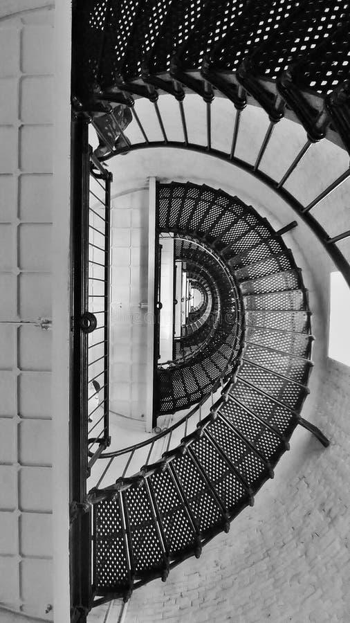 灯塔螺旋形楼梯 免版税库存图片