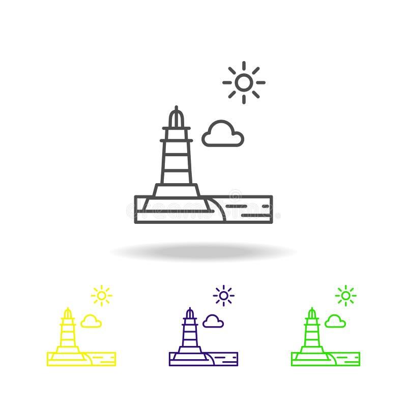 灯塔,晴朗,云彩上色了象 能为网,商标,流动应用程序,UI,UX使用 向量例证
