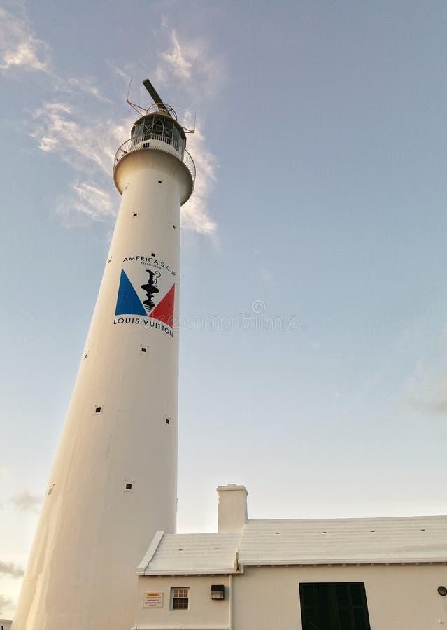 灯塔, gibbs小山,百慕大,圣诞节 库存照片