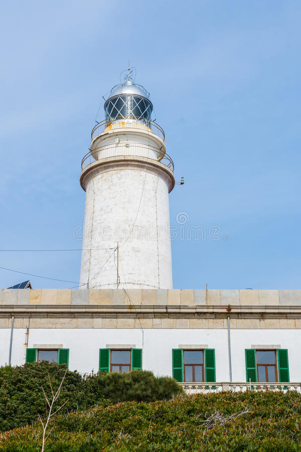 灯塔-盖帽Formentor,马略卡 免版税库存图片