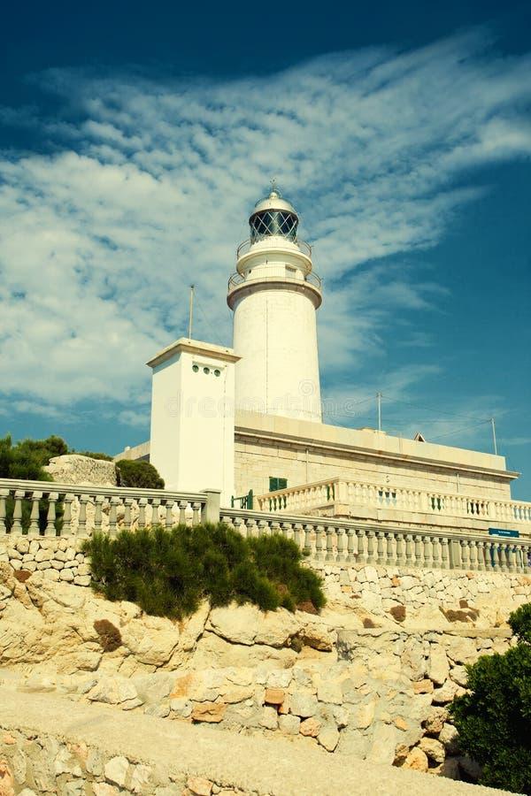 灯塔Formentor 库存照片