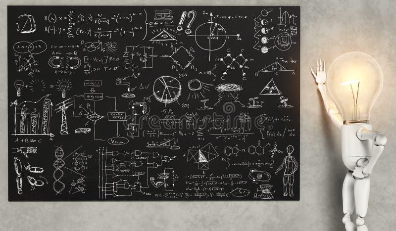 灯字符显示许多解答 库存例证