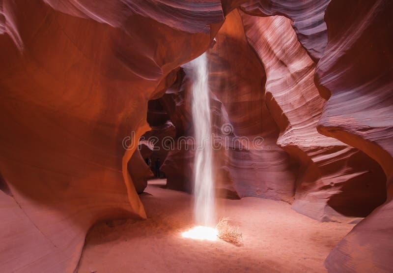 灯柱在羚羊峡谷 免版税库存图片