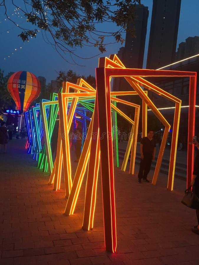 灯笼在天津,中国 免版税库存照片