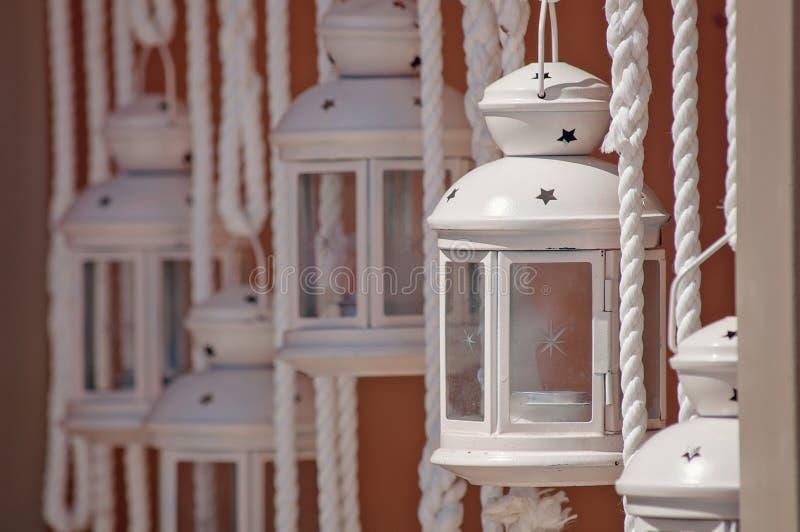 灯笼在Kefalonia,希腊 免版税库存图片