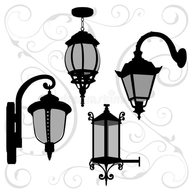 灯笼设置了2 库存例证