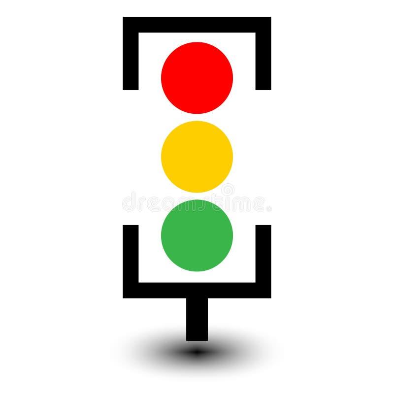 绿灯红色业务量黄色 库存例证
