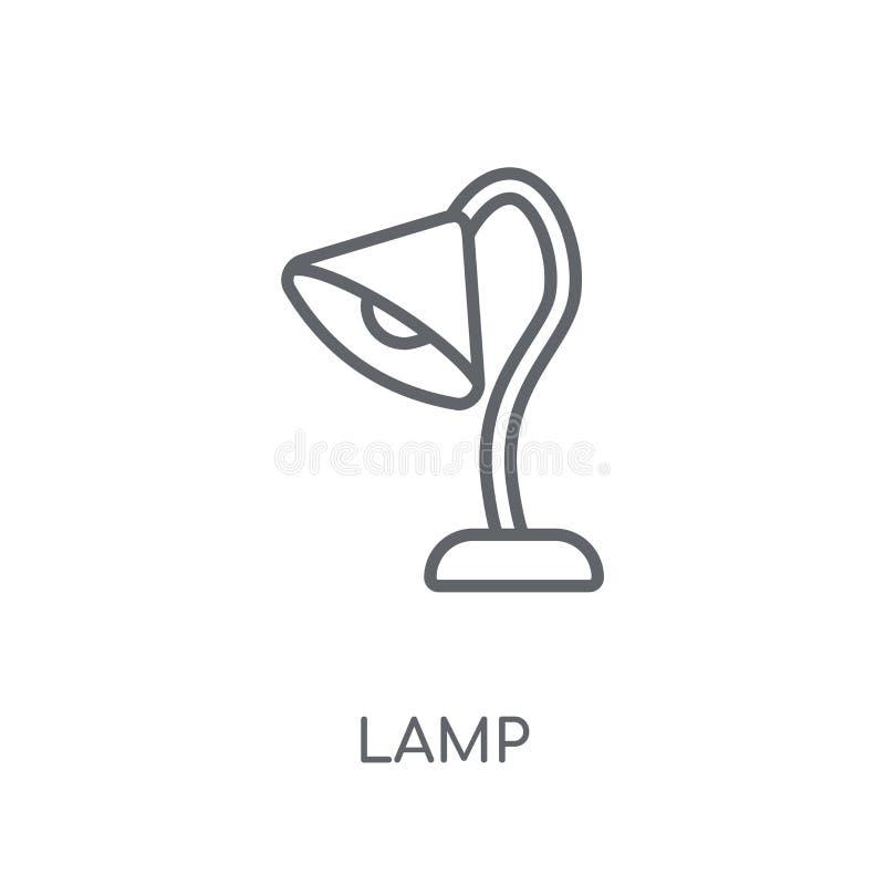 灯线性象 在白色后面的现代概述灯商标概念 库存例证