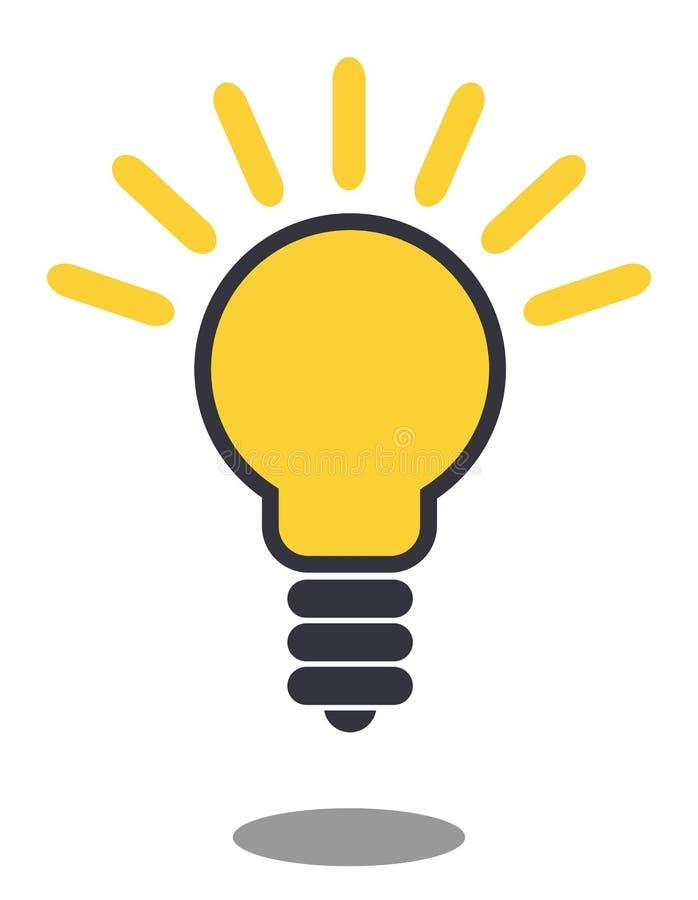 灯线象 电灯泡概念想法例证光向量 背景查出的白色 皇族释放例证