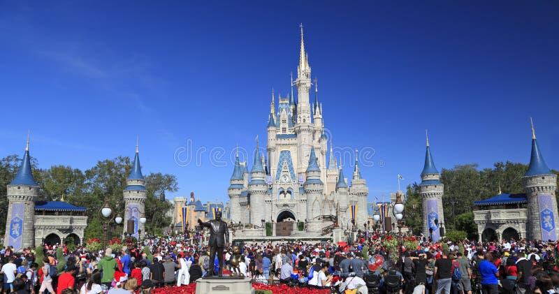 灰姑娘城堡在不可思议的王国,迪斯尼,奥兰多,佛罗里达 库存照片