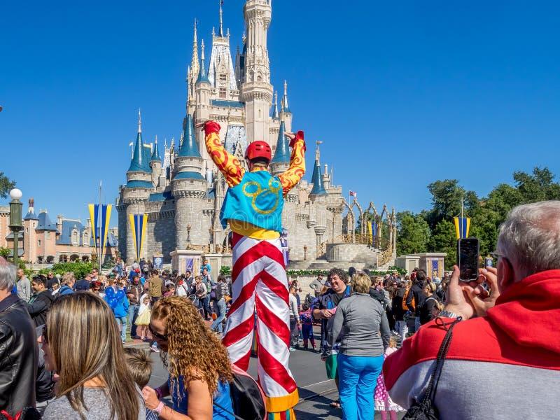 灰姑娘城堡,不可思议的王国 库存照片