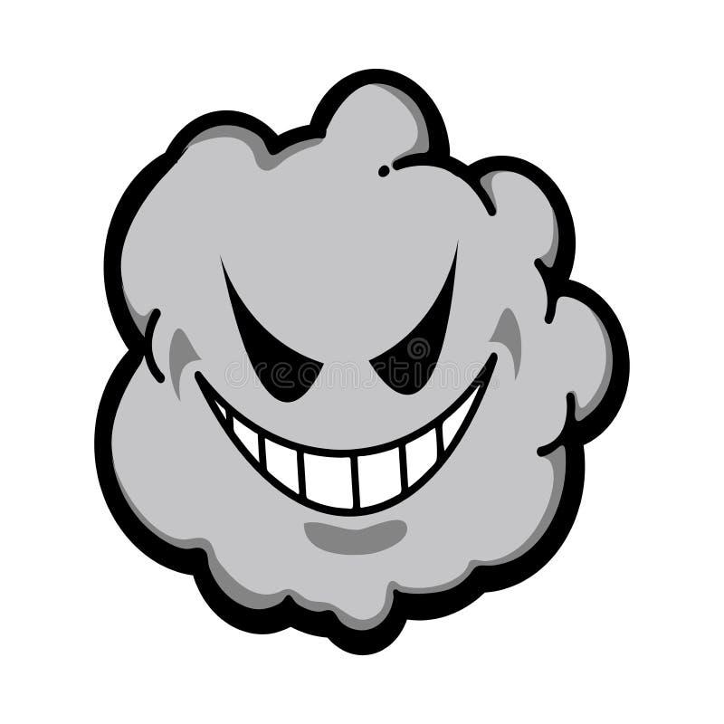 灰尘、烟雾、病毒图像插图 库存例证