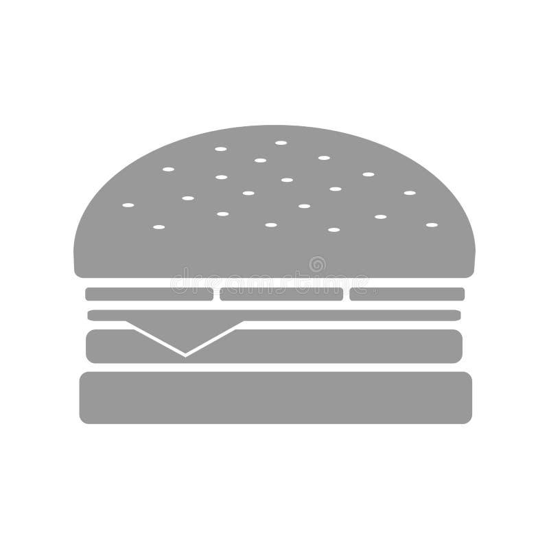 灰度的快餐汉堡 向量例证
