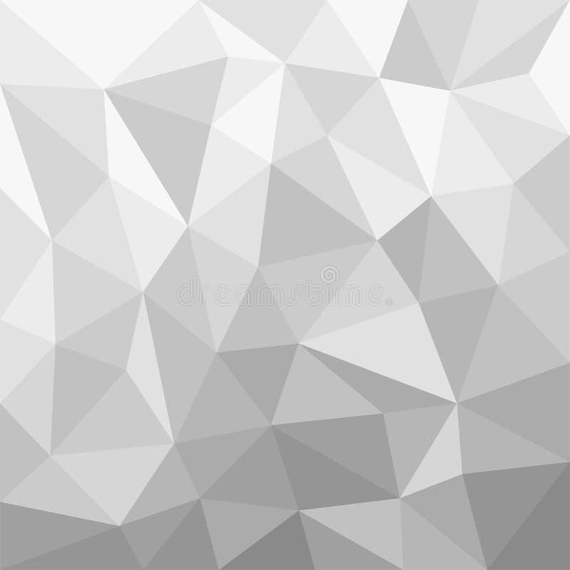 灰度的背景多角形 向量例证