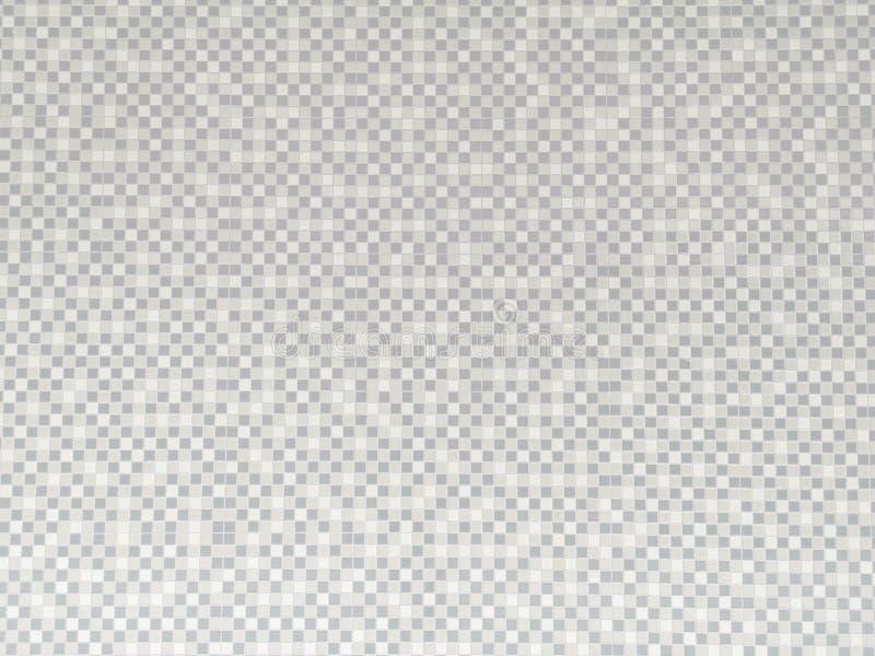 灰白瓷墙砖抽象背景 浴室装饰用马赛克纹理 库存例证