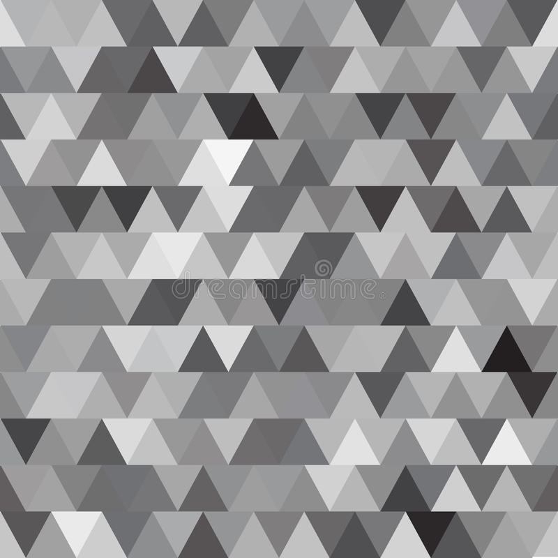 灰色与三角的传染媒介无缝的样式 抽象背景 皇族释放例证