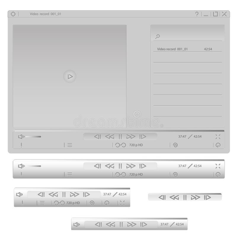 灰色传媒播放装置 图库摄影