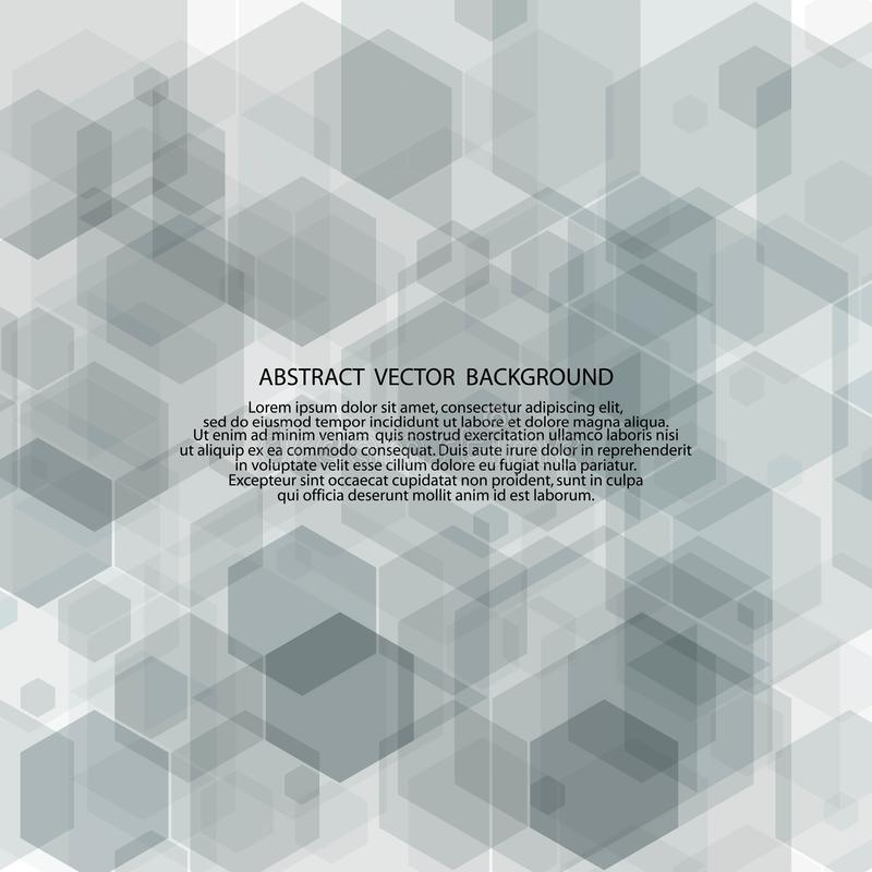 灰色六角形 E 介绍模板eps 10 皇族释放例证