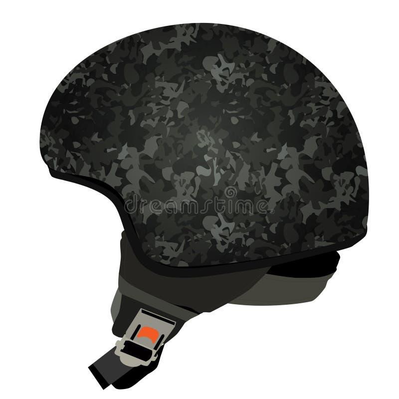 灰色军事盔甲 向量例证