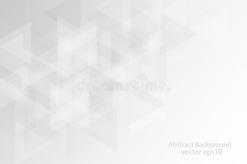 灰色和白色三角摘要背景,pres的拷贝空间 皇族释放例证