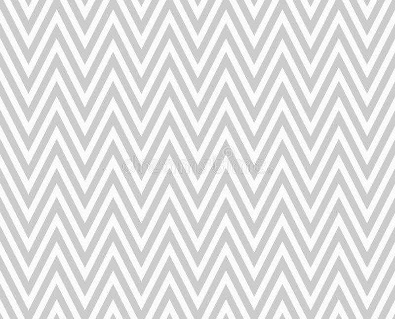 灰色和白色之字形被构造的织品重复样式背景 皇族释放例证