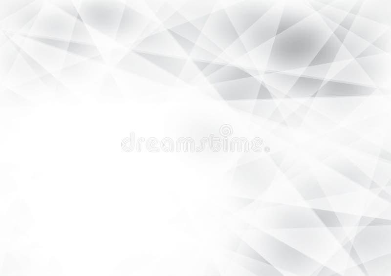 灰色和白色颜色几何抽象传染媒介背景,现代图形设计 库存例证