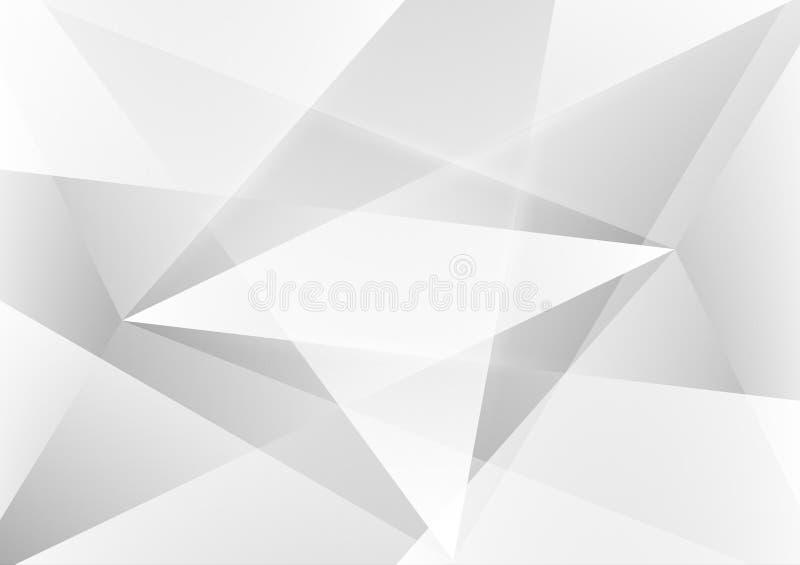 灰色和白色颜色摘要几何传染媒介背景和浅灰色,现代设计 皇族释放例证