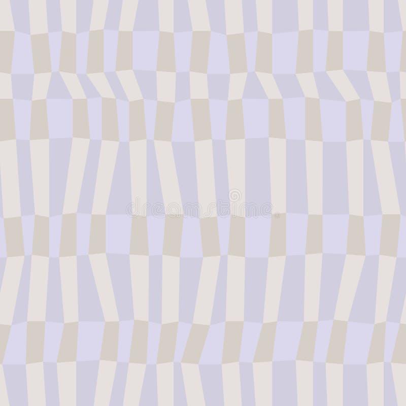 灰色和蓝色中性上色了混乱镶边几何无缝的样式,传染媒介 向量例证