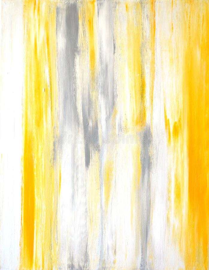 灰色和黄色抽象派绘画 免版税图库摄影