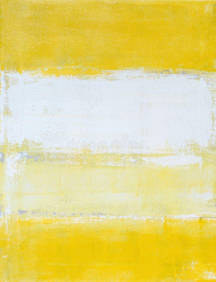 灰色和黄色抽象派绘画 皇族释放例证
