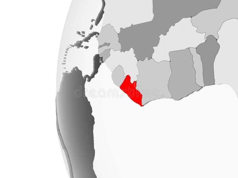 灰色地球的利比里亚 皇族释放例证