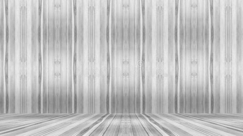 灰色墙壁和地板,木室,抽象背景 库存图片