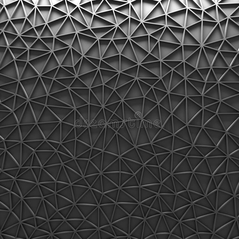 灰色多角形马赛克几何背景 库存图片