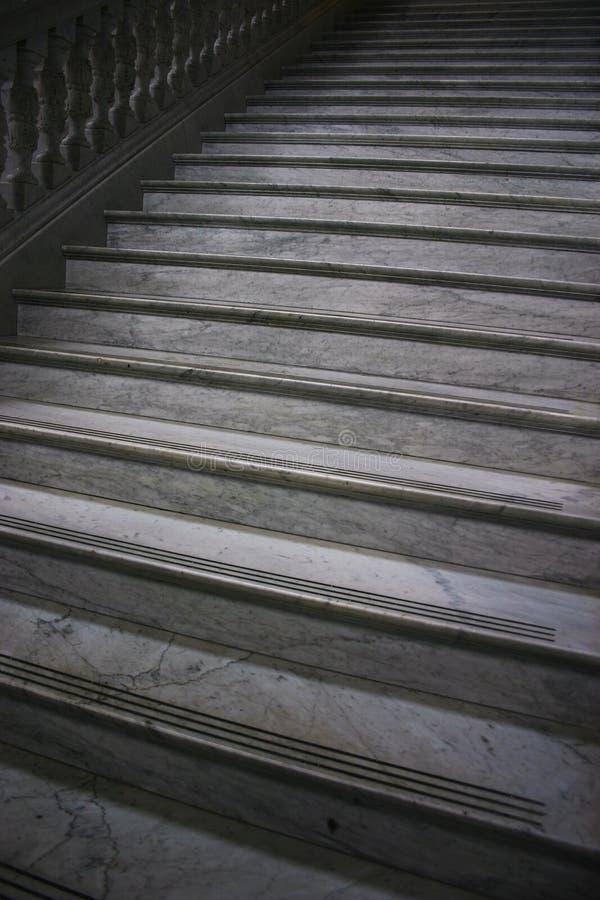 灰色大理石楼梯 库存图片