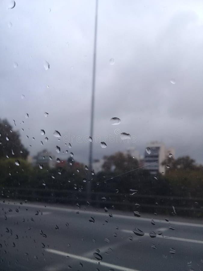 灰色天,布宜诺斯艾利斯,雨 免版税库存图片
