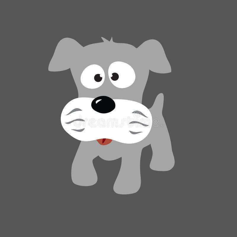 灰色小狗髯狗 向量例证