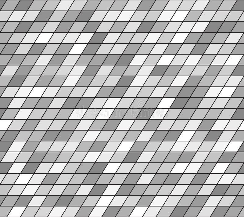 灰色平行四边形样式 1866根据Charles Darwin演变图象无缝的结构树向量 向量例证