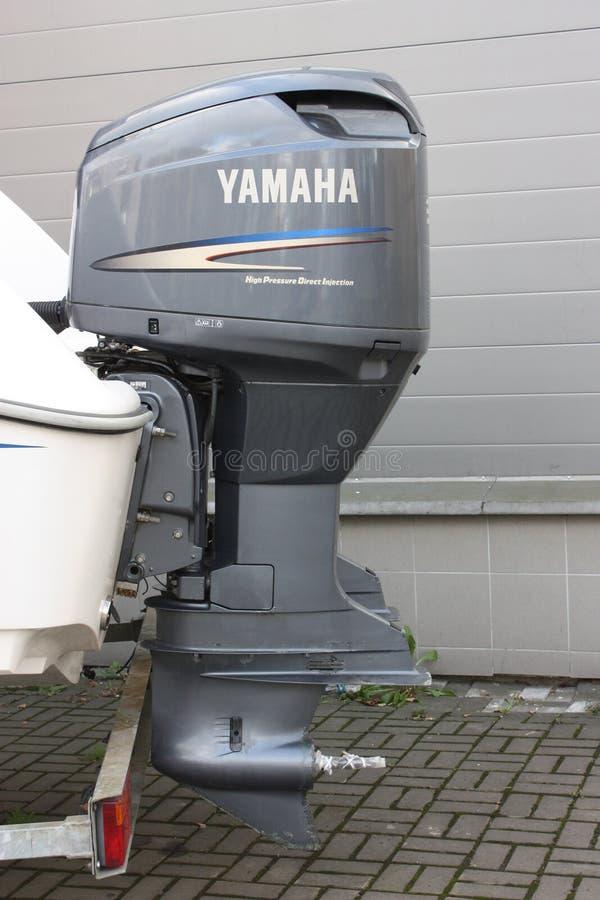 灰色快艇引擎 免版税图库摄影