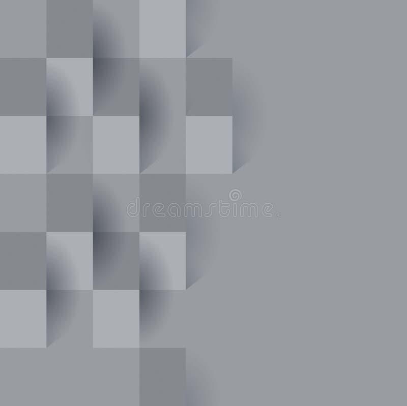 灰色抽象背景传染媒介 向量例证