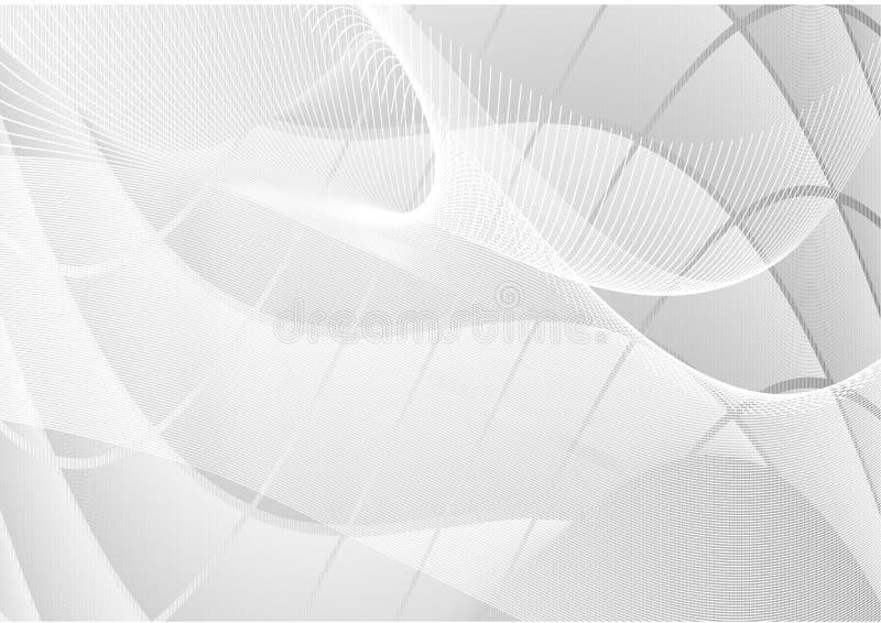 灰色摘要挥动直线背景传染媒介 向量例证
