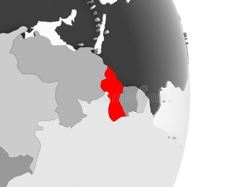 灰色政治地球的圭亚那 皇族释放例证
