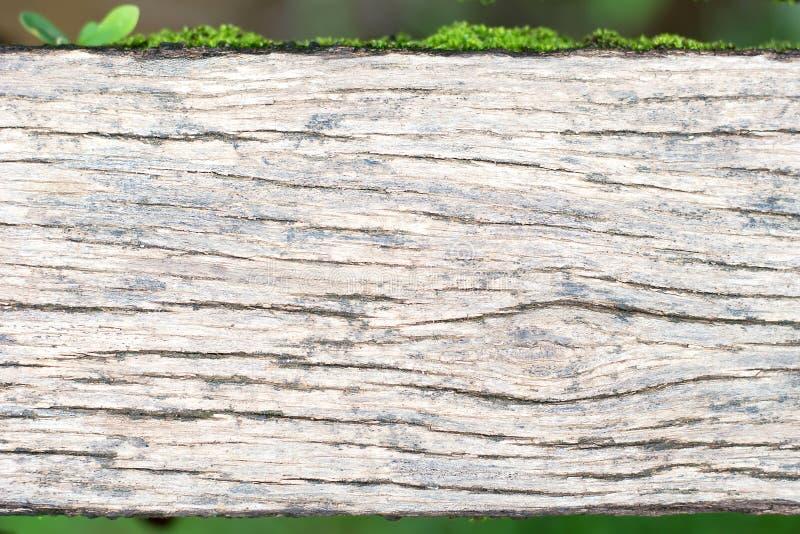 灰色木木板走道特写镜头风化了与质感粗糙 免版税库存图片