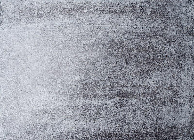 灰色木背景。银色毛面 库存照片