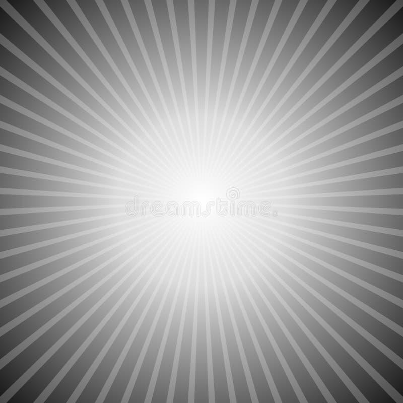 灰色梯度摘要星破裂了背景-减速火箭的向量图形设计 向量例证