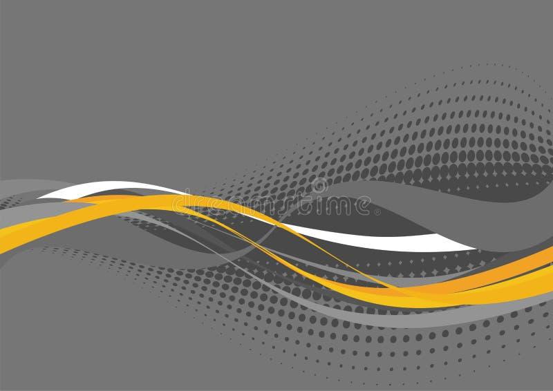 灰色模式波浪空白黄色 皇族释放例证