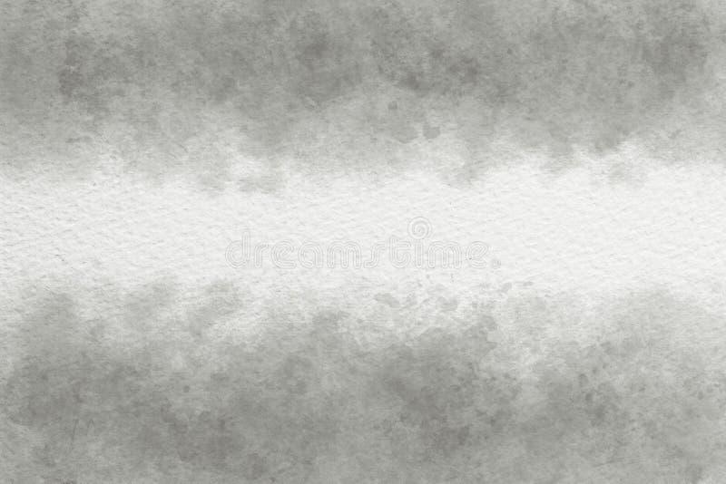 灰色水彩摘要或葡萄酒油漆帆布背景 免版税库存图片