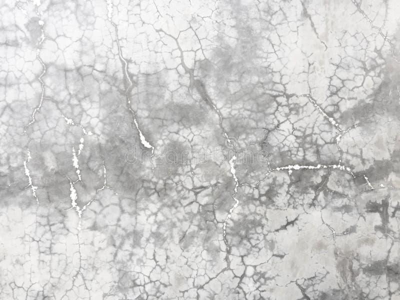 灰色混凝土墙背景水泥崩裂了纹理样式蜘蛛网 免版税库存照片