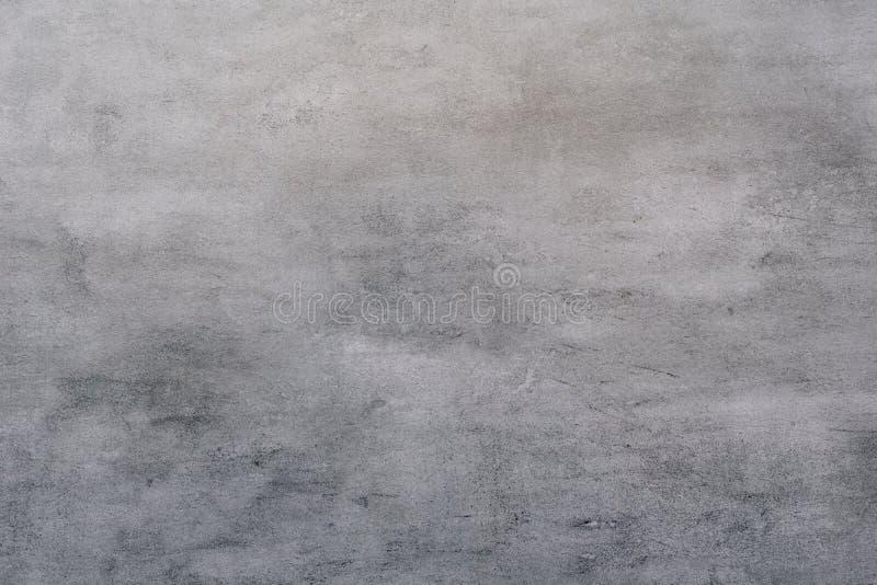 灰色灰泥的背景涂上了并且绘了水泥外部,粗砺的塑象  免版税库存图片