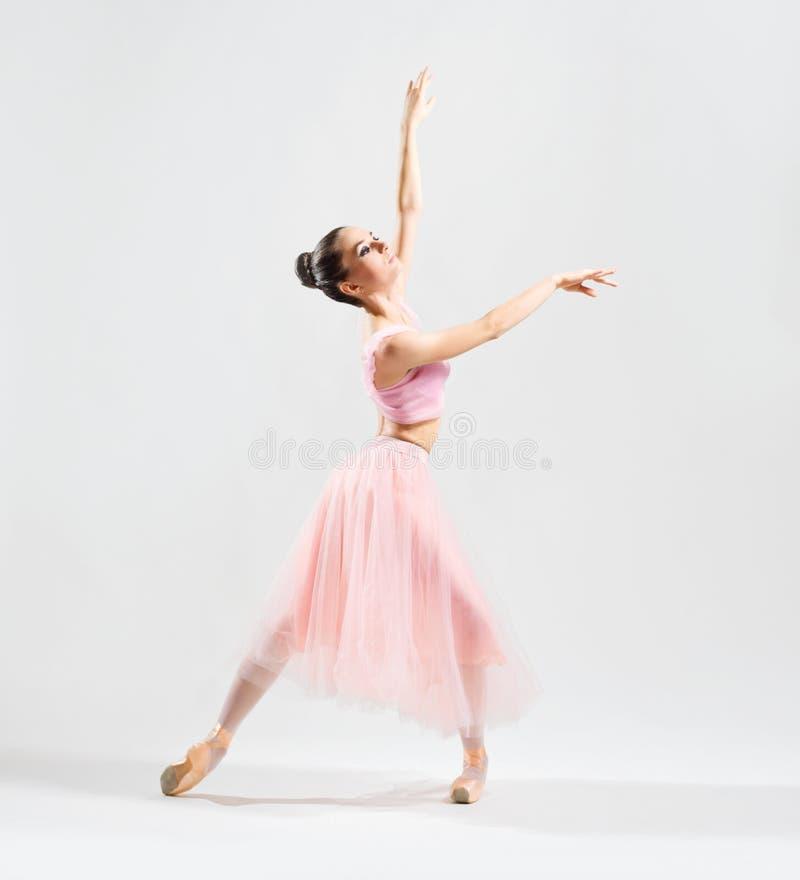 灰色版本的芭蕾舞女演员 图库摄影