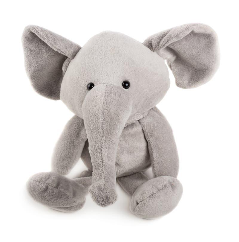 灰色玩具大象 库存照片